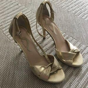 Nina gold heels - size 8!